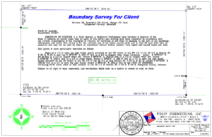 boundary survey drawing